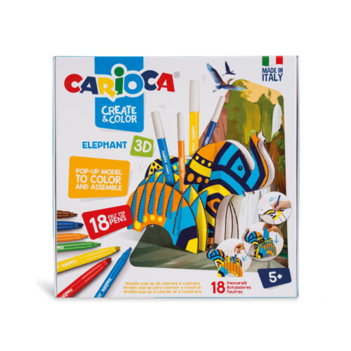 set-creativ-create-color-carioca-elefant-3d